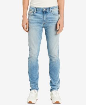 Calvin Klein Jeans Est.1978 Men's Roxy Skinny Fit Stretch Jeans In Destroyed Roxy Blue