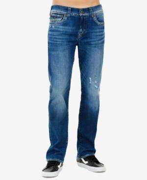 True Religion Men's Ricky Slim-straight Fit Stretch Destroyed Jeans In Midnight Menace