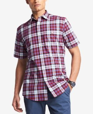 Tommy Hilfiger Men's Budd Plaid Pocket Shirt, Created For Macy's In Apple Red