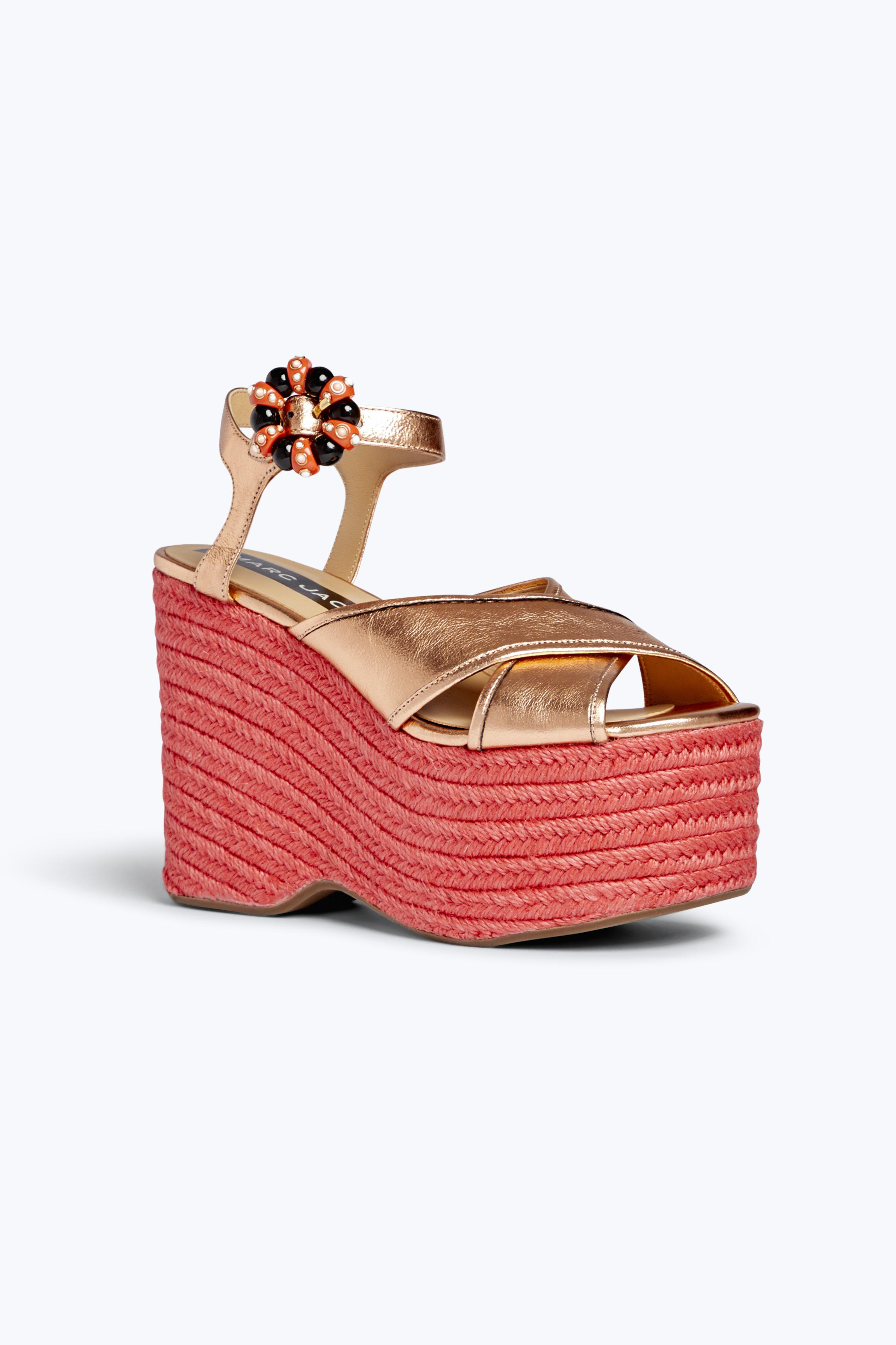 5e7b396658c6 Marc Jacobs Women s Rowan Platform-Wedge Espadrille Sandals - Gold Size 10  A great designer gift. Stay on top of Spring trends and shop Marc Jacobs at  ...