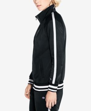 Champion Track Jacket In Black/White