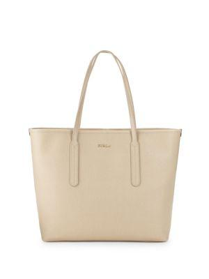 b2d7b570e3e9 Furla Ariana Leather Open Tote Bag In Acero | ModeSens