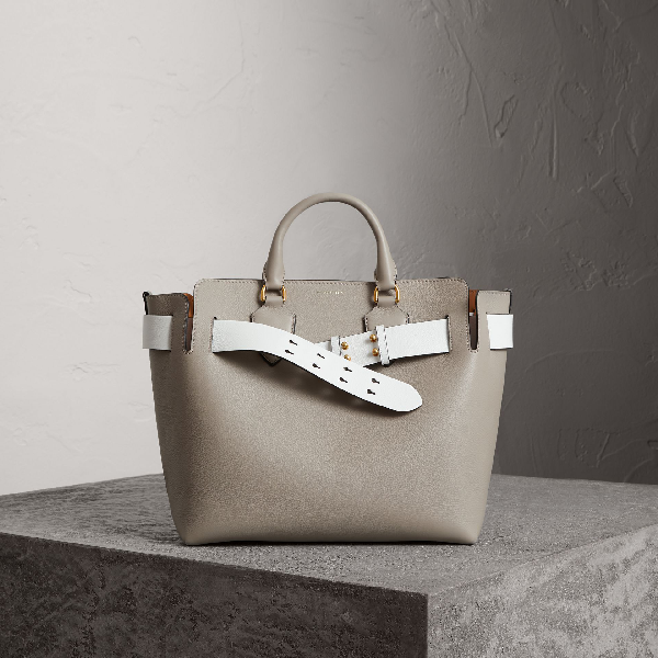 2feab51ccc Burberry The Medium Leather Belt Bag In Mineral Grey | ModeSens