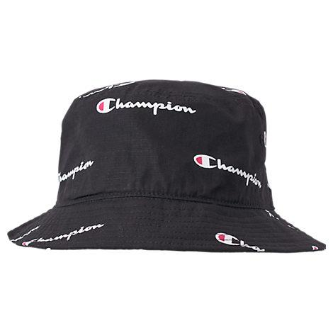 da260e05 Champion All Over Script Reverse Weave Bucket Hat, Women'S, Black ...