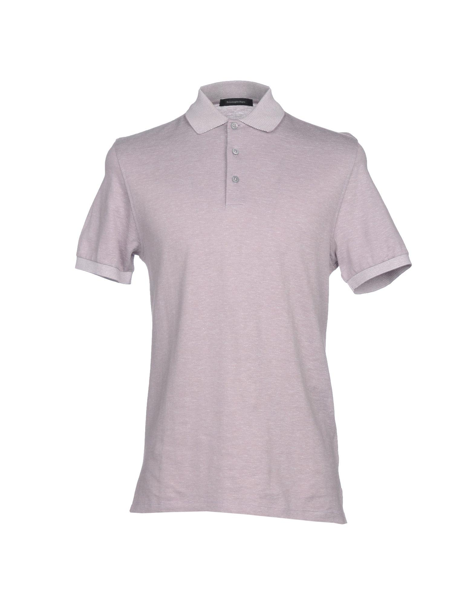 Ermenegildo Zegna Polo Shirts In Dove Grey