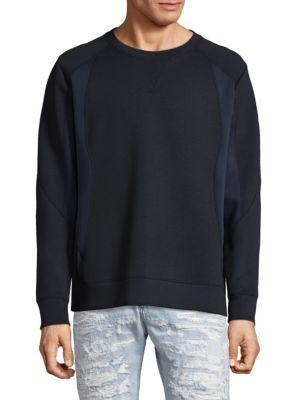 Diesel Black Gold Pieced Sweatshirt In Black Navy