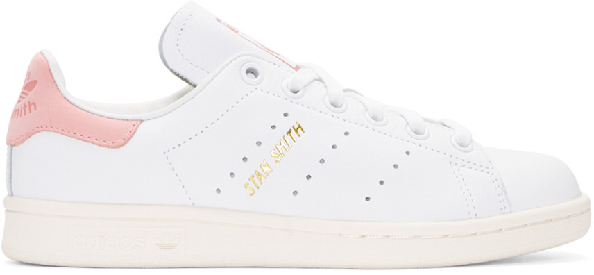 new concept 6319c 576c1 White & Pink Stan Smith Sneakers