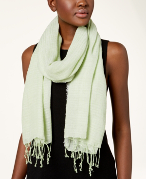 Eileen Fisher Airy Organic Cotton Shapes Scarf In Aloe