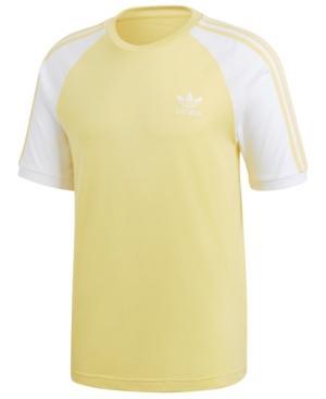 Adidas Originals Men's California T-Shirt In Lemon