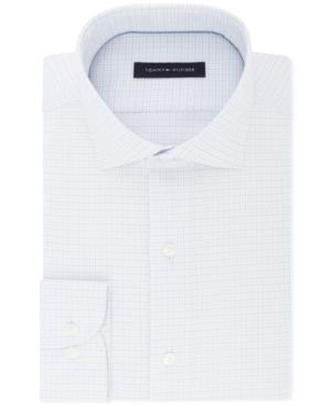 ed9b97d64 Tommy Hilfiger Men's Classic/Regular Fit Non-Iron Performance Stretch Blue  And White Check