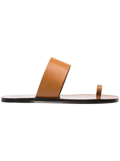 Atp Atelier Astrid Leather Sandals In Brown