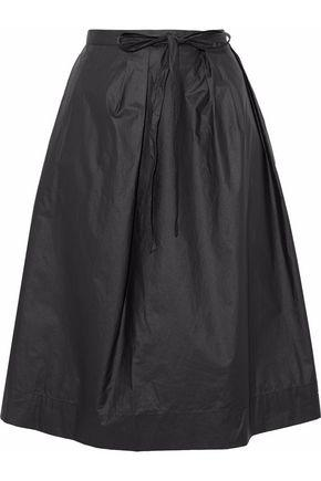 Maison Margiela Woman Pleated Cotton Skirt Black