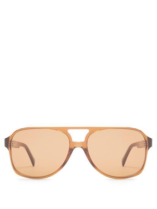 27cb7b27e148f Celine Navigator Acetate Sunglasses In Brown