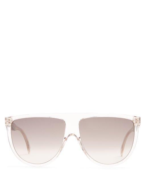 7489c3cac90b Celine Shadow Aviator D-Frame Acetate Sunglasses In Light Pink ...
