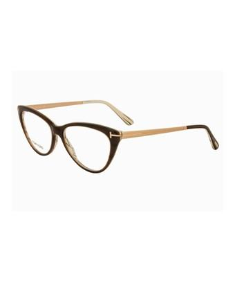 5d11761ca2 Tom Ford Cateye Eyeglasses Tf5354 050 Size  53Mm Brown Horn Gold Ft5354 In