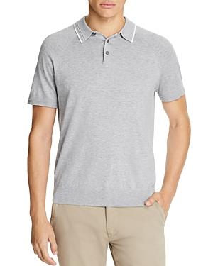 Michael Kors Tipped-Collar Polo Shirt - 100% Exclusive In Heather Gray