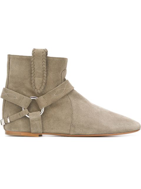 Isabel Marant ÉToile Raelyn Suede Ankle Boots In Taupe