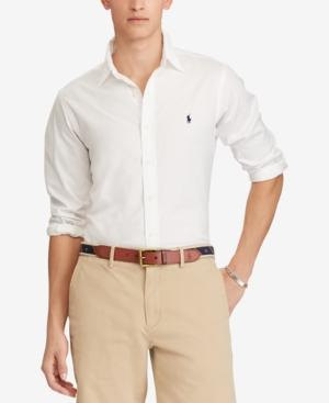 Polo Ralph Lauren Men's Big & Tall Classic Fit Shirt In White