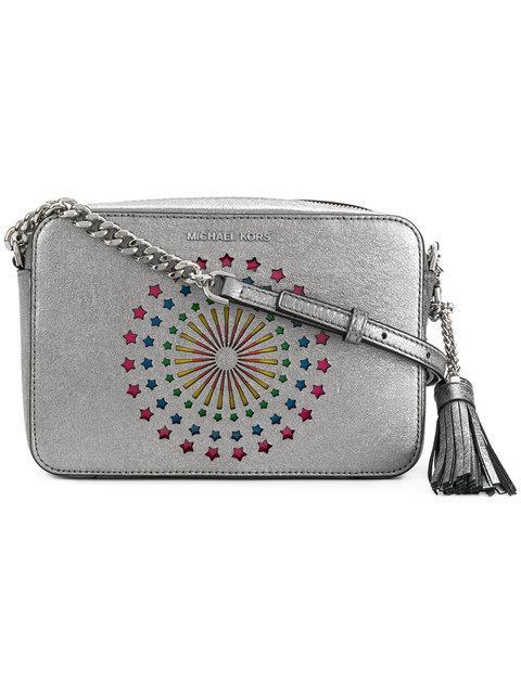 b4bbbbdbff50 Michael Michael Kors Embellished Ginny Crossbody Bag | ModeSens