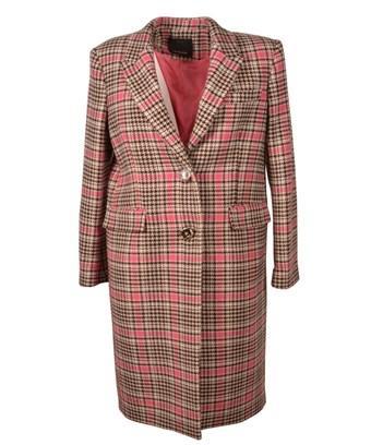 Pinko Women's  Brown Wool Coat