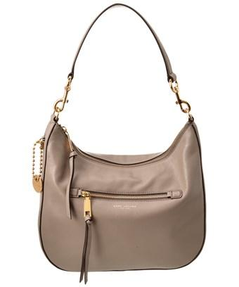 7442e8dd3d5 Marc Jacobs Recruit Leather Hobo In Grey | ModeSens