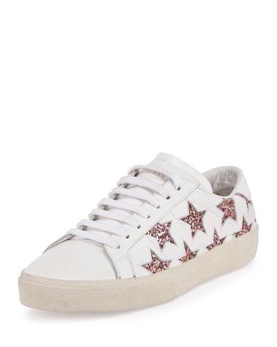 Multicolor Whitemulti Court Glitter Sneaker Leather In White Signature And Classic Sl06 California Off wOX8PNkn0