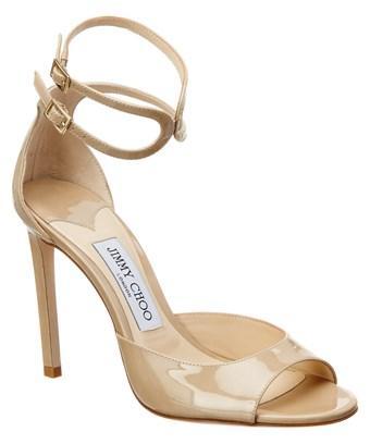 Jimmy Choo Lane 100 Patent Sandal In Nocolor