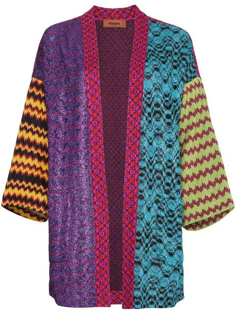 69ee400fe129 Missoni Intarsia Knit Patchwork Cardigan In Multicolour