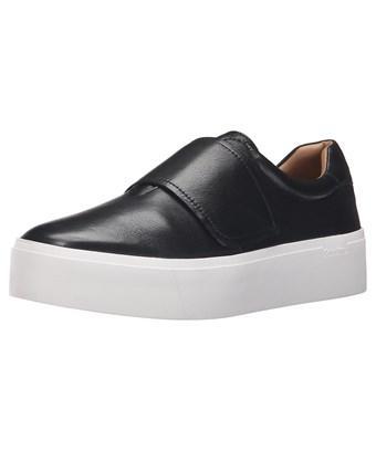 Calvin Klein Womens Jaiden Low Top Slip On Fashion Sneakers, Black, Size 10.0