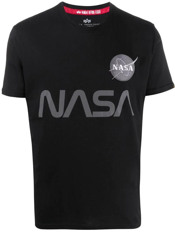 Alpha Industries Nasa Reflective T-shirt In Black