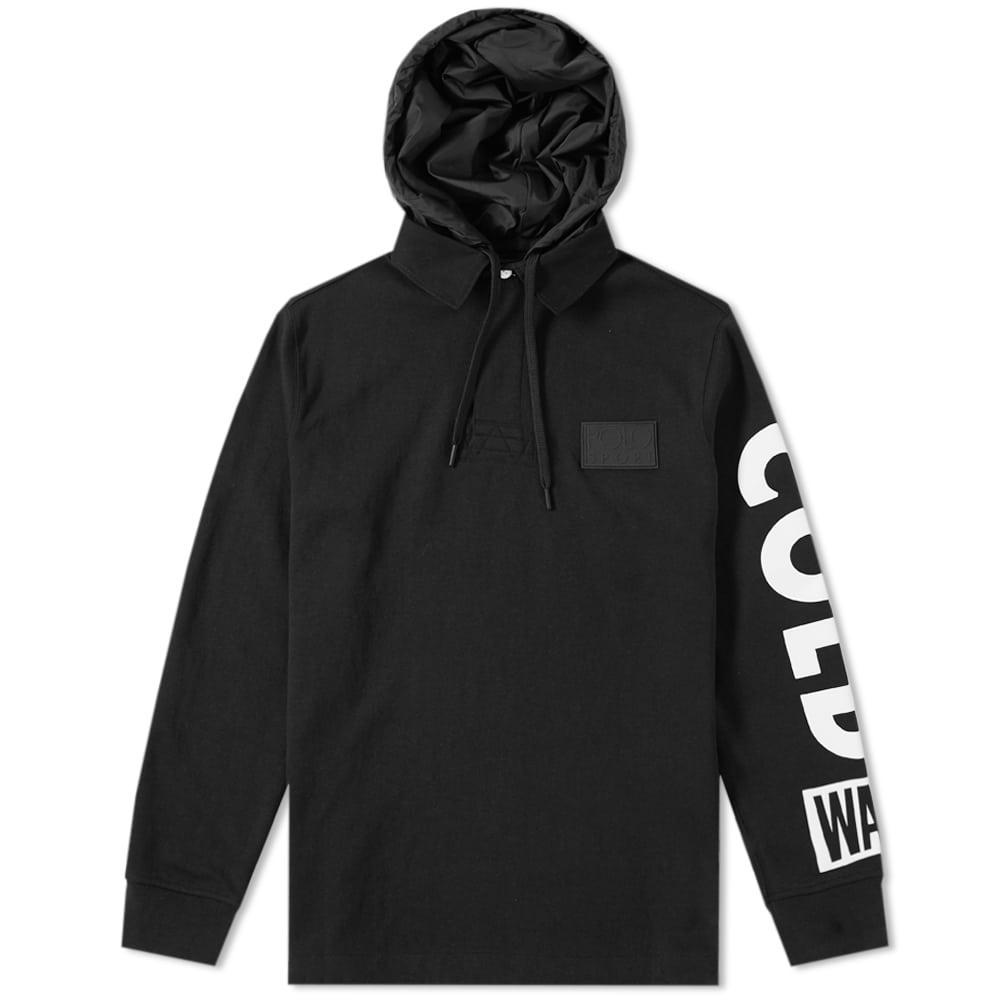 899890a9815 Polo Ralph Lauren Hooded Rugby Shirt 'Snow Beach' In Black | ModeSens