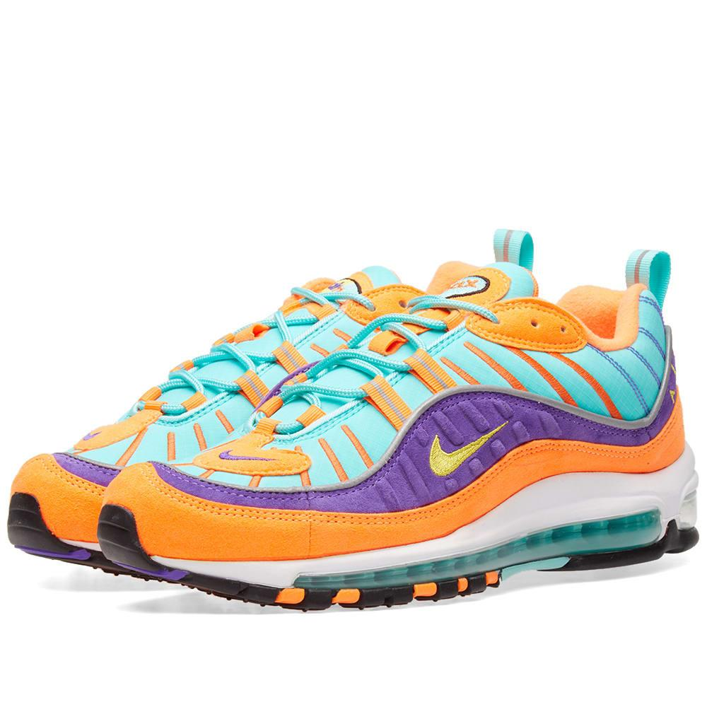 08ff633db66 Nike Air Max 98 Qs Suede And Ripstop Sneakers In Multi