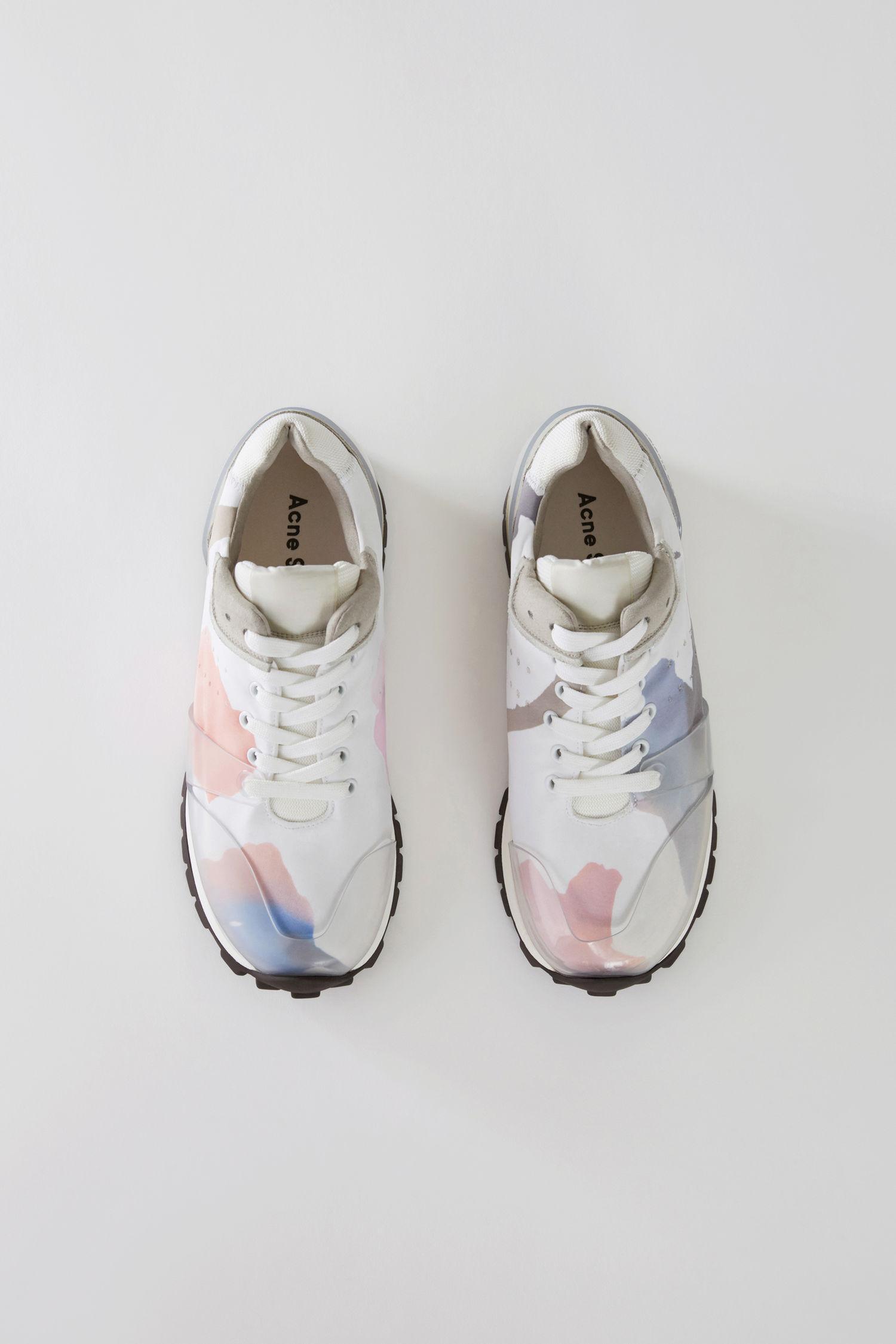 2462ebf99 Acne Studios Joriko Flower Print Sneakers In Flower Print Nylon In White  Multi