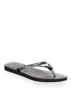 4f866c6c5 Havaianas Slim Lux Swarovski Crystal Flip Flops In Black
