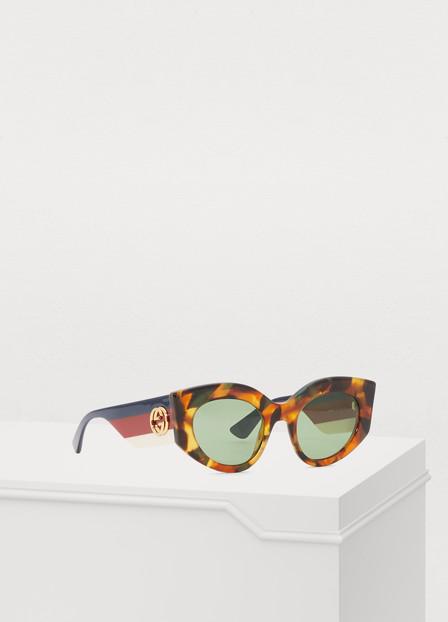 Gucci Injected Sunglasses In Avana/multi