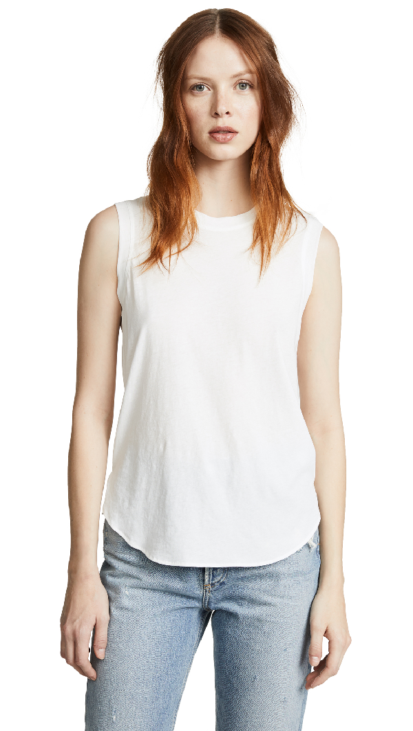 e36c63548c6dff James Perse Supima Cotton Basic Tank Top In White