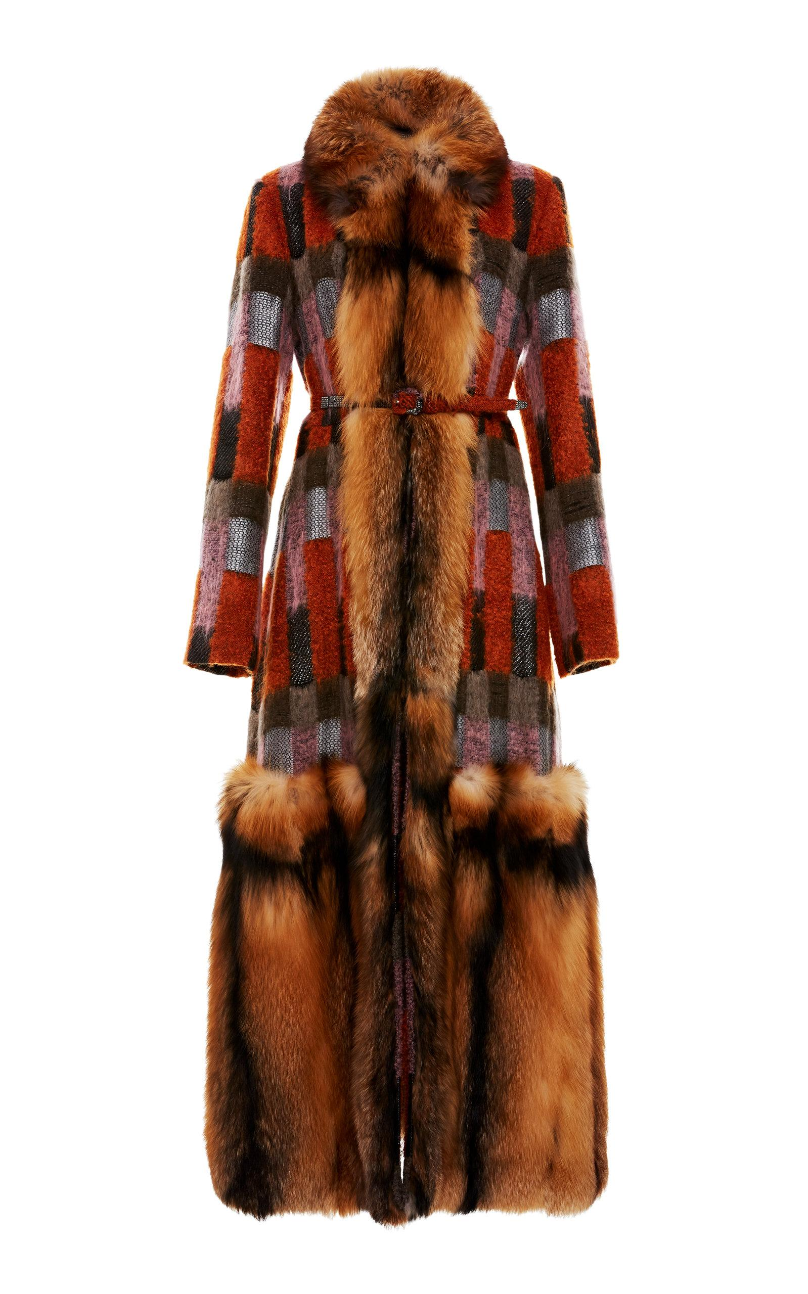 8ea40b4c415 J Mendel Patchwork Full Length Fur Coat In Multi | ModeSens