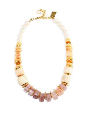 Lizzie Fortunato Pink Sands Necklace In Yellow Gold