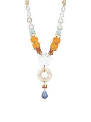 Lizzie Fortunato Capri Ii Necklace In Yellow Gold