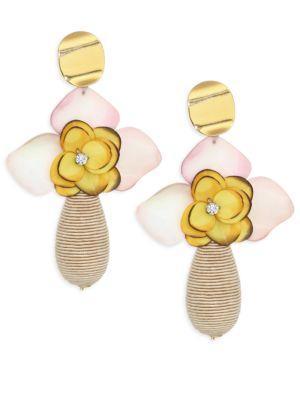 Lizzie Fortunato Magnolia Drop Earrings In Multi