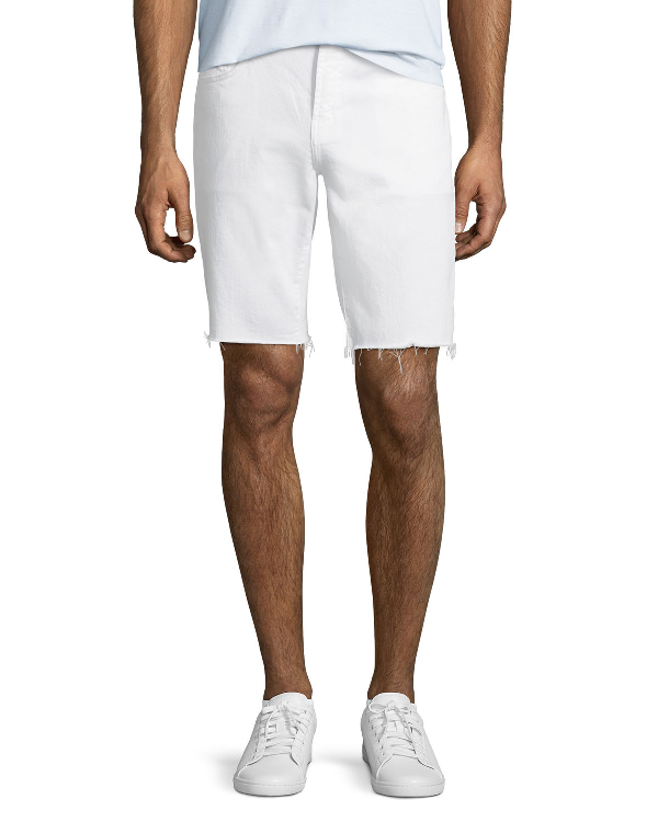 J Brand Men's Eli Over-dyed Cutoff Jean Shorts In Bitman