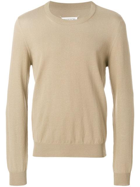 Maison Margiela Fine Knit Sweater In Neutrals