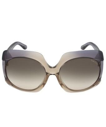 Tom Ford Ivana Sunglasses Ft0385 20B | Violet/Crystal Frame | Brown Gradient Lens