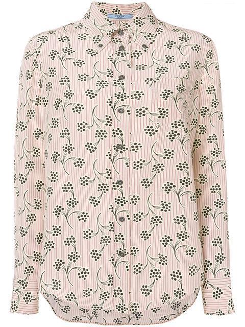 ac72e9d72a17a Prada Printed Button Down Shirt - Neutrals | ModeSens