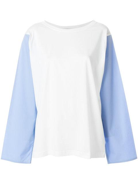 Sofie D'hoore Sofie Dhoore Contrast Front T-shirt In Off White Dragee