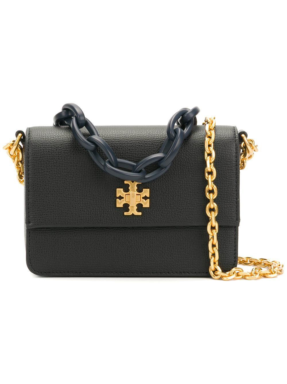 8fa733bace565 Tory Burch Kira Mini Pebbled-Leather Cross-Body Bag In Black