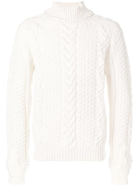 Sacai Cable-Knit Jumper - White