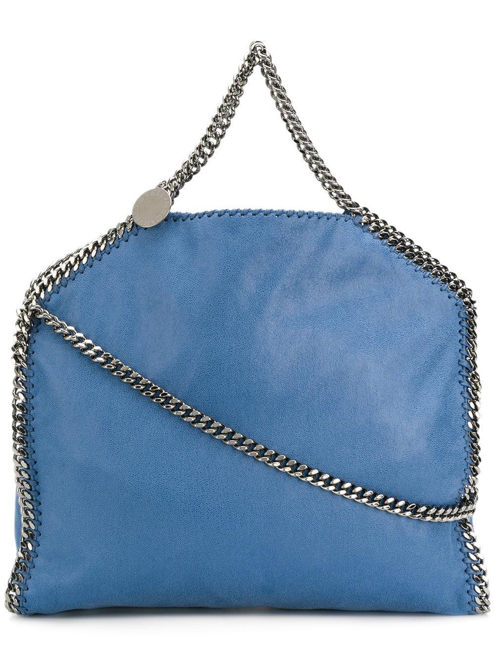 3629455234 Stella Mccartney Falabella Foldover Tote Bag - Blue
