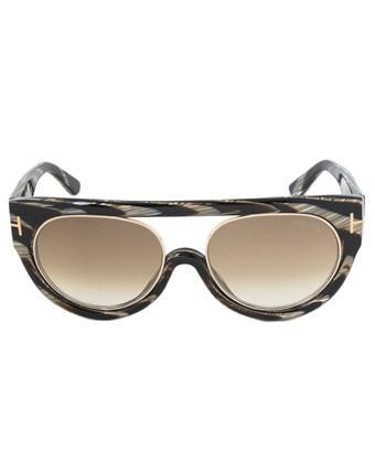 Tom Ford Alana Sunglasses Ft0360 63F | Striped Horn Frame | Brown Gradient Lens