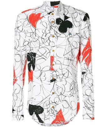Vivienne Westwood Men's  White Cotton Shirt